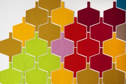 passatoie cucina disegno geometrici : Mattonelle in feltro per la decorazione delle pareti - Mammachecasa