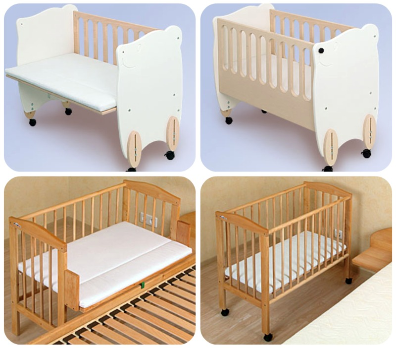 Co sleeping bonding e bedside cots o culle da affiancare - Culla neonato da attaccare al letto ...