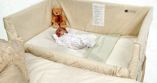 Co sleeping bonding e bedside cots o culle da affiancare - Lettino neonato da attaccare al letto ...
