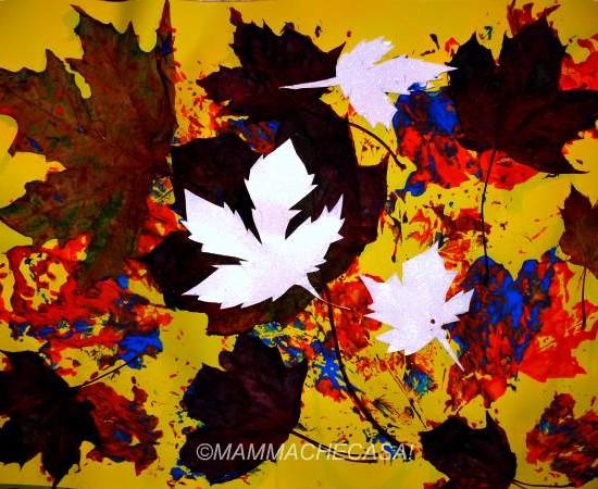 Arte con foglie secche