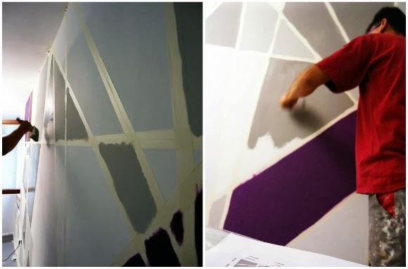 Decorare una parete con il colore e la geometria for Pareti colorate immagini