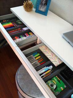 perfetta organizzazione del materiale nei cassetti. Fonte: Weheartit